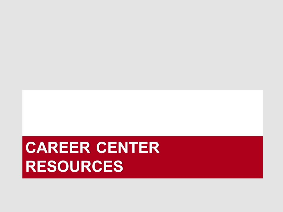 Career Center Resources