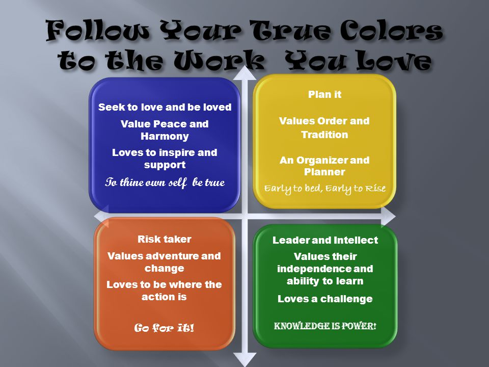 Follow Your True Colors to the Work You Love
