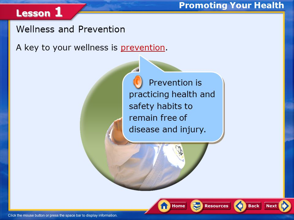 Wellness and Prevention