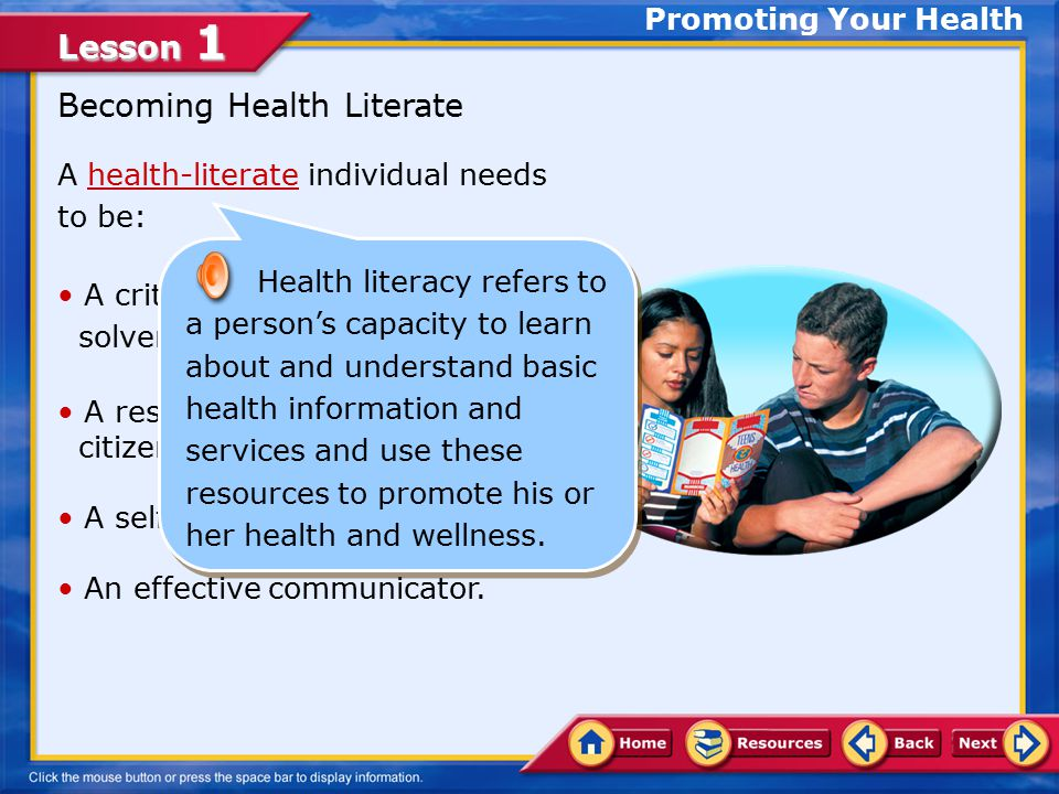 Becoming Health Literate