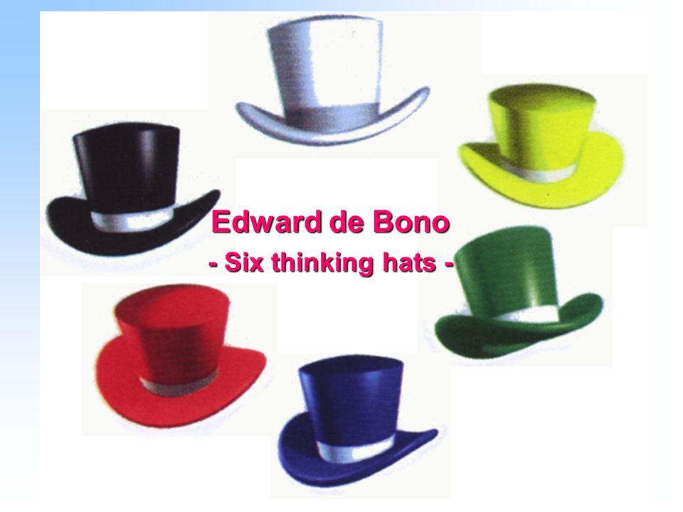 Edward de Bono - Six thinking hats -