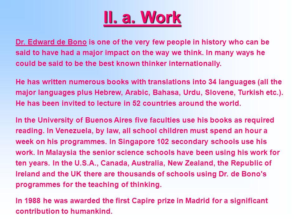 II. a. Work