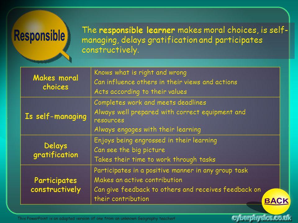 Participates constructively
