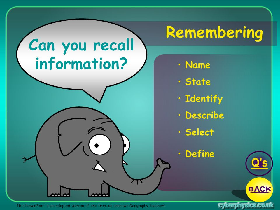Can you recall information