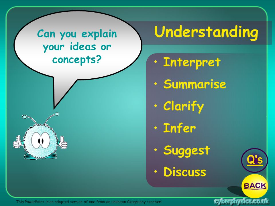 Can you explain your ideas or concepts