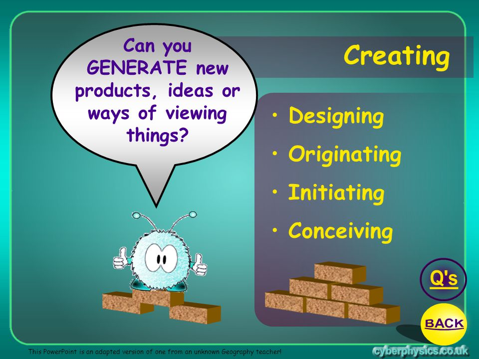 GENERATE new products, ideas or ways of viewing things