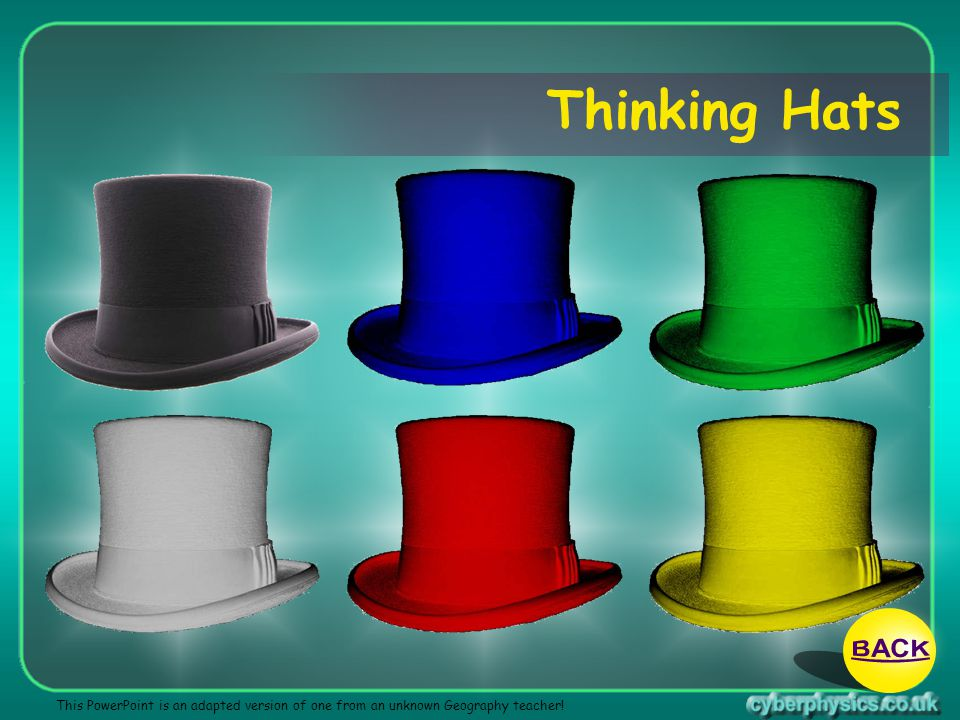 13/04/2017 Thinking Hats BACK