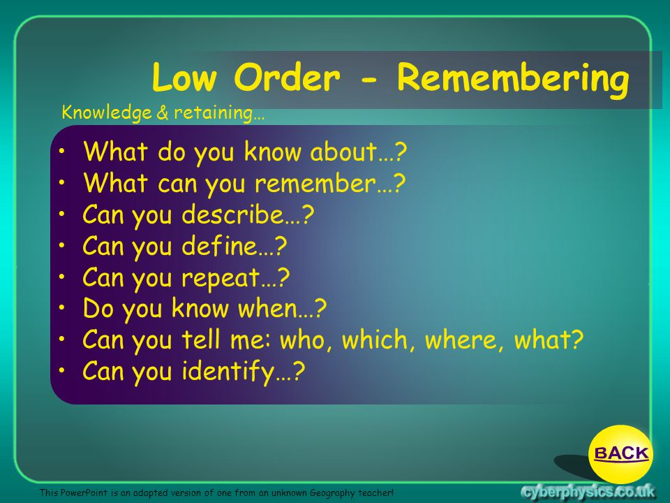 Low Order - Remembering