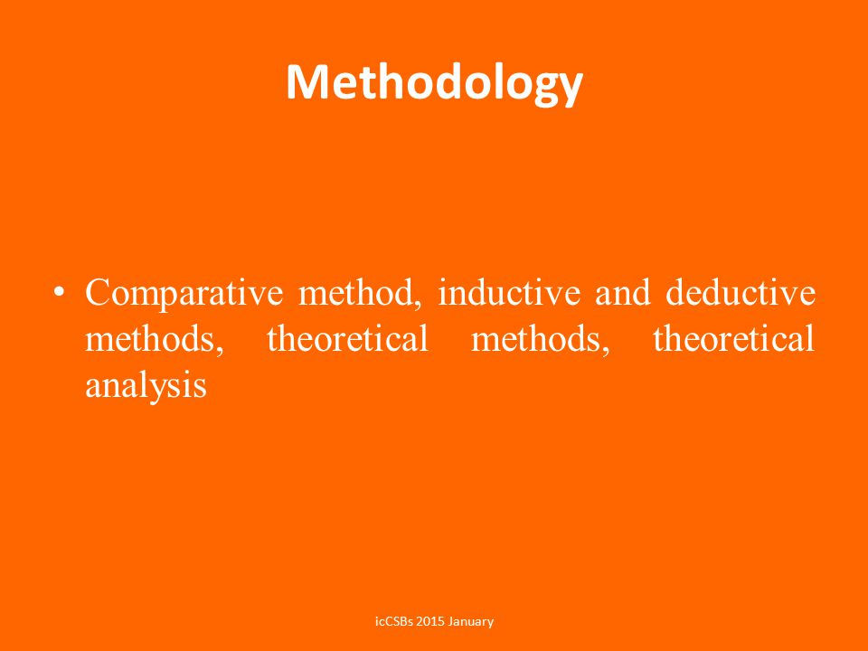 Methodology Comparative method, inductive and deductive methods, theoretical methods, theoretical analysis.