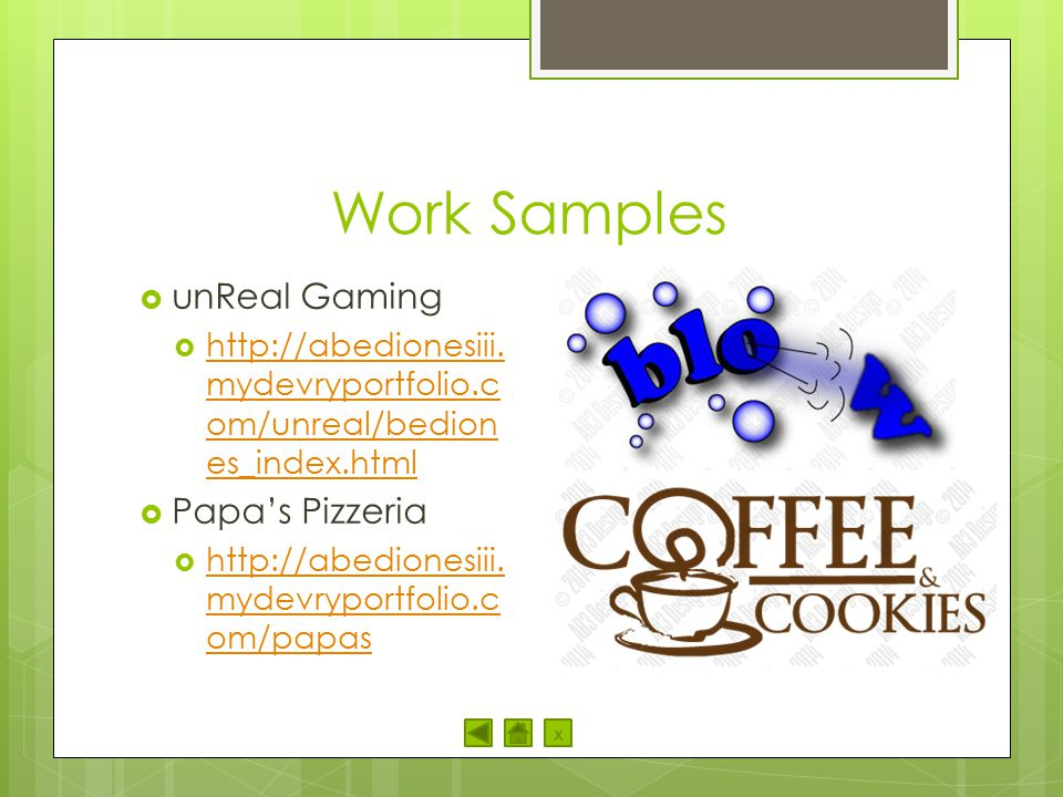 Work Samples unReal Gaming Papa's Pizzeria