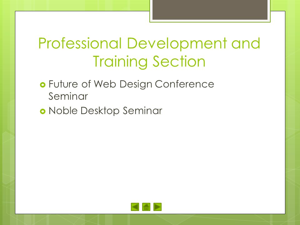 Professional Development and Training Section