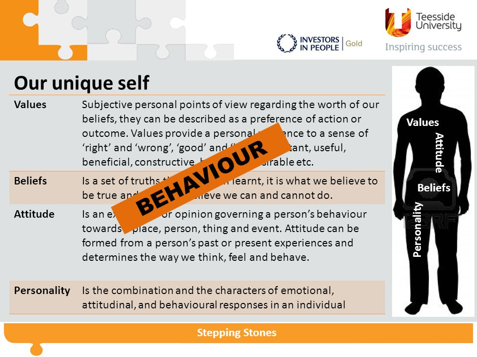 Our unique self BEHAVIOUR Values