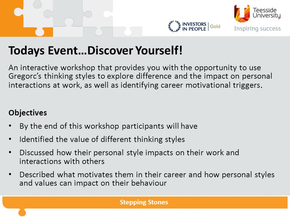 Todays Event…Discover Yourself!