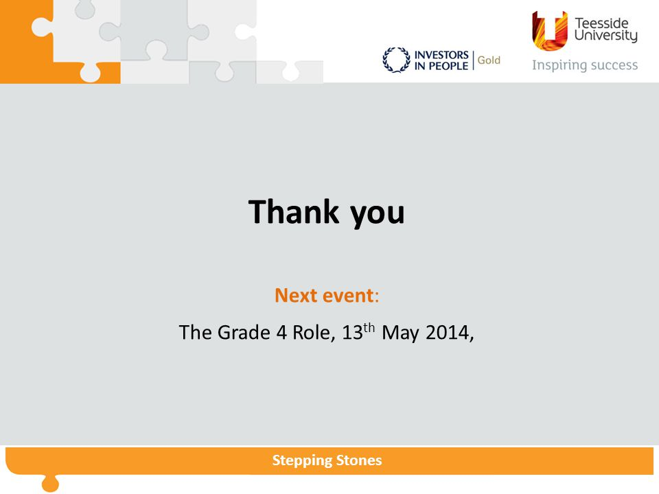 Thank you Next event: The Grade 4 Role, 13th May 2014,