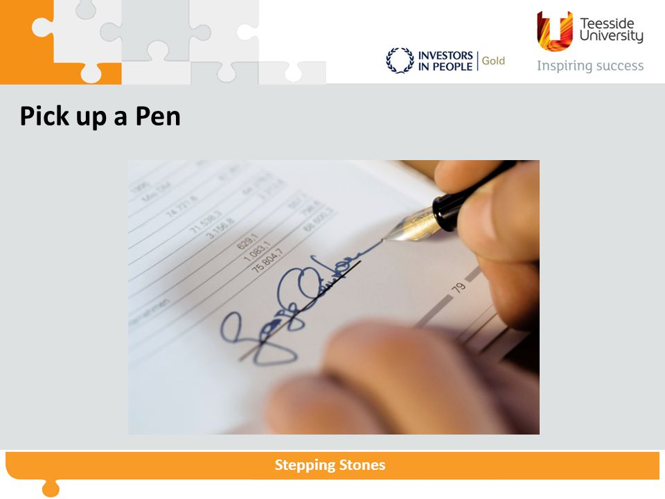 Pick up a Pen