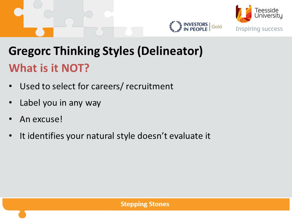 Gregorc Thinking Styles (Delineator)