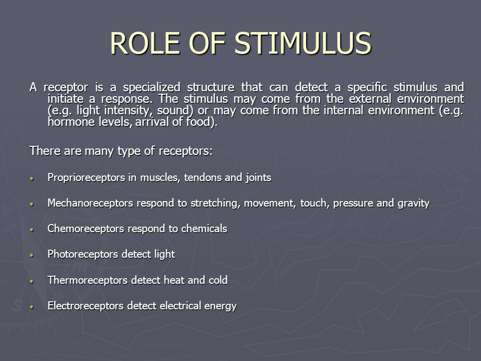 ROLE OF STIMULUS