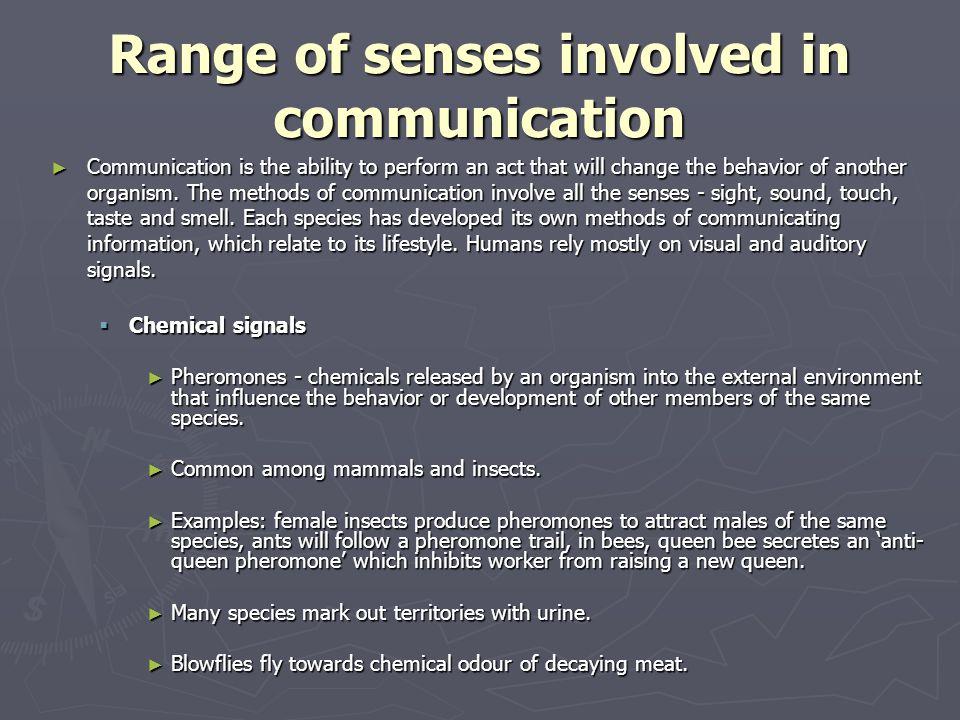 Range of senses involved in communication