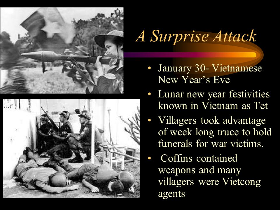 A Surprise Attack January 30- Vietnamese New Year's Eve