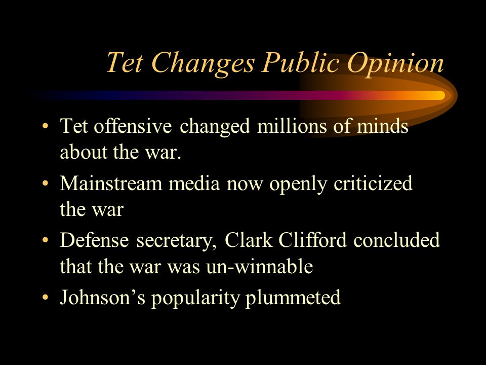 Tet Changes Public Opinion