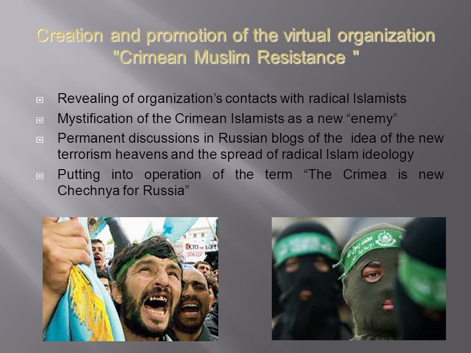 Creation and promotion of the virtual organization Crimean Muslim Resistance