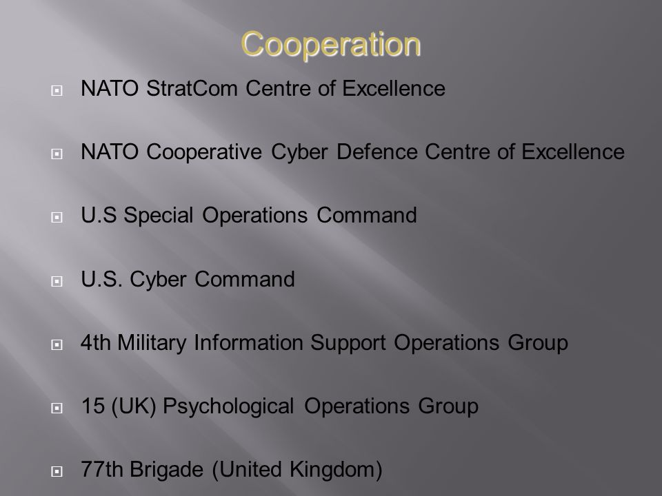 Cooperation NATO StratCom Centre of Excellence