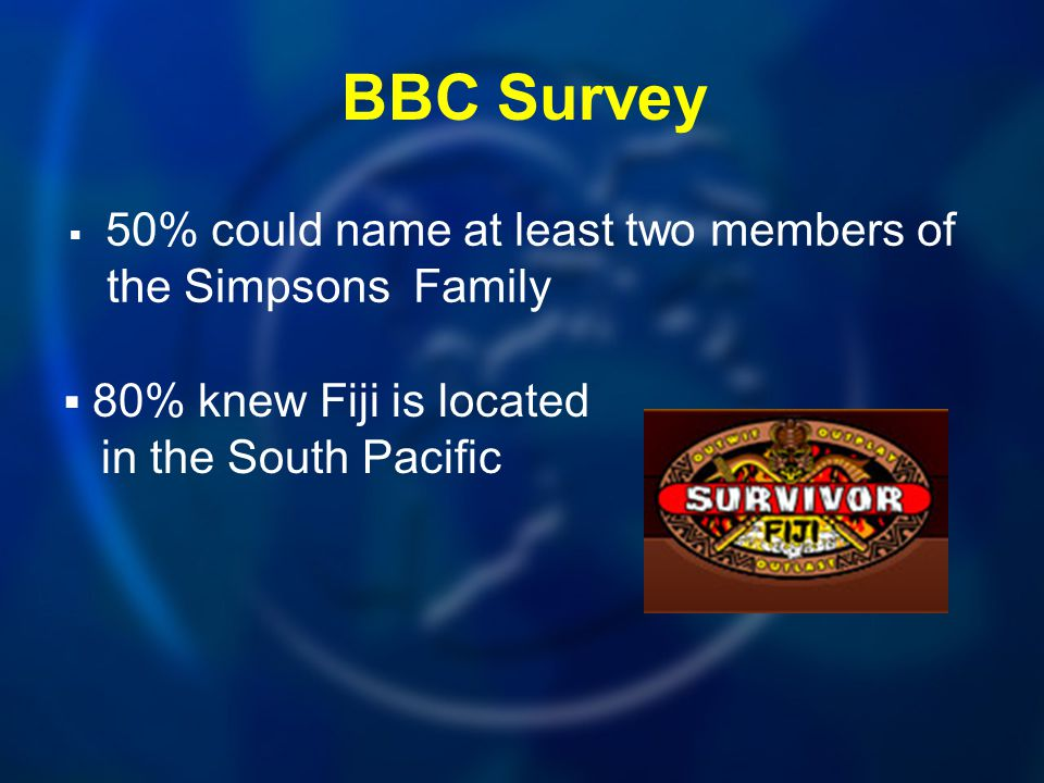 BBC Survey the Simpsons Family in the South Pacific