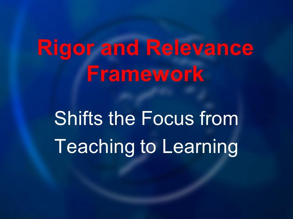 Rigor and Relevance Framework