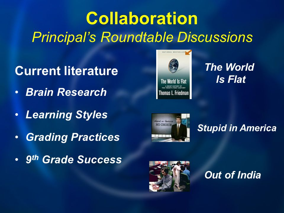 Collaboration Principal's Roundtable Discussions