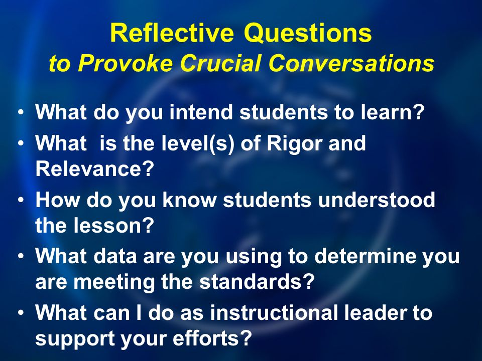 Reflective Questions to Provoke Crucial Conversations