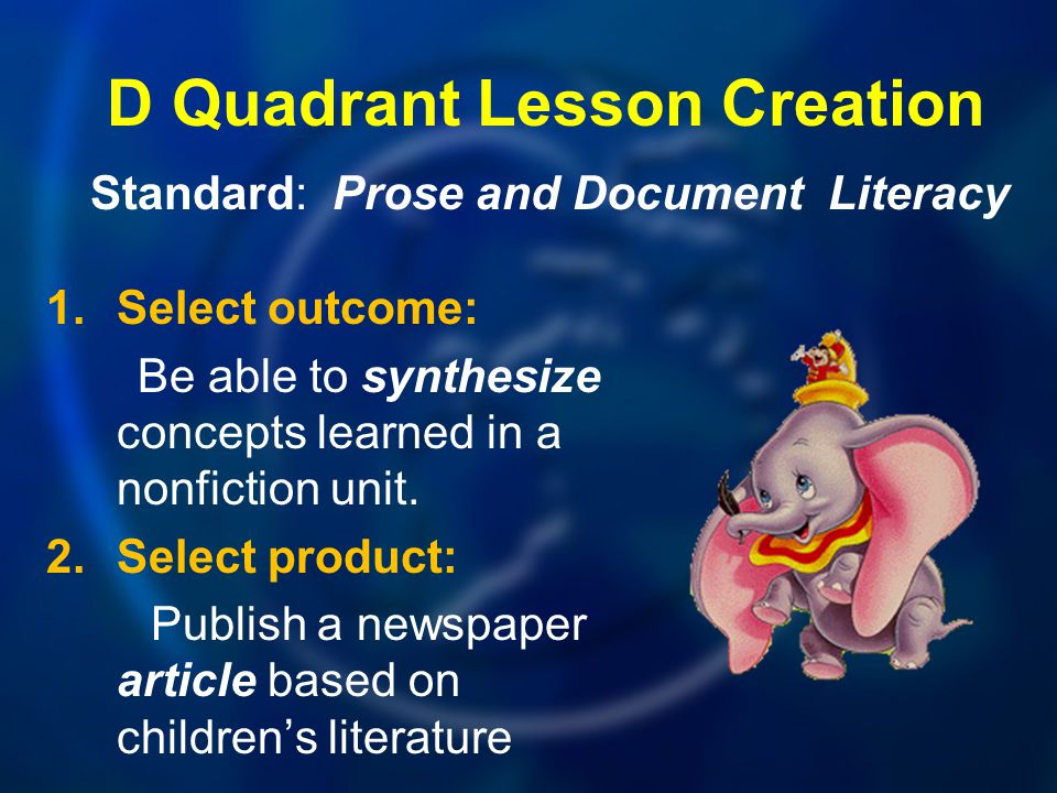 D Quadrant Lesson Creation