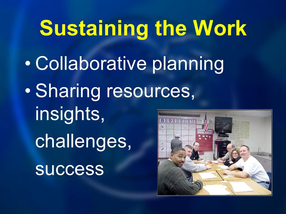 Sustaining the Work Collaborative planning