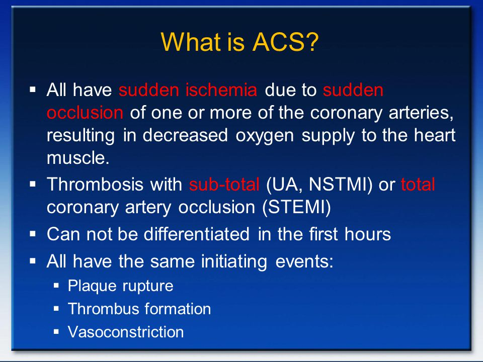 What is ACS