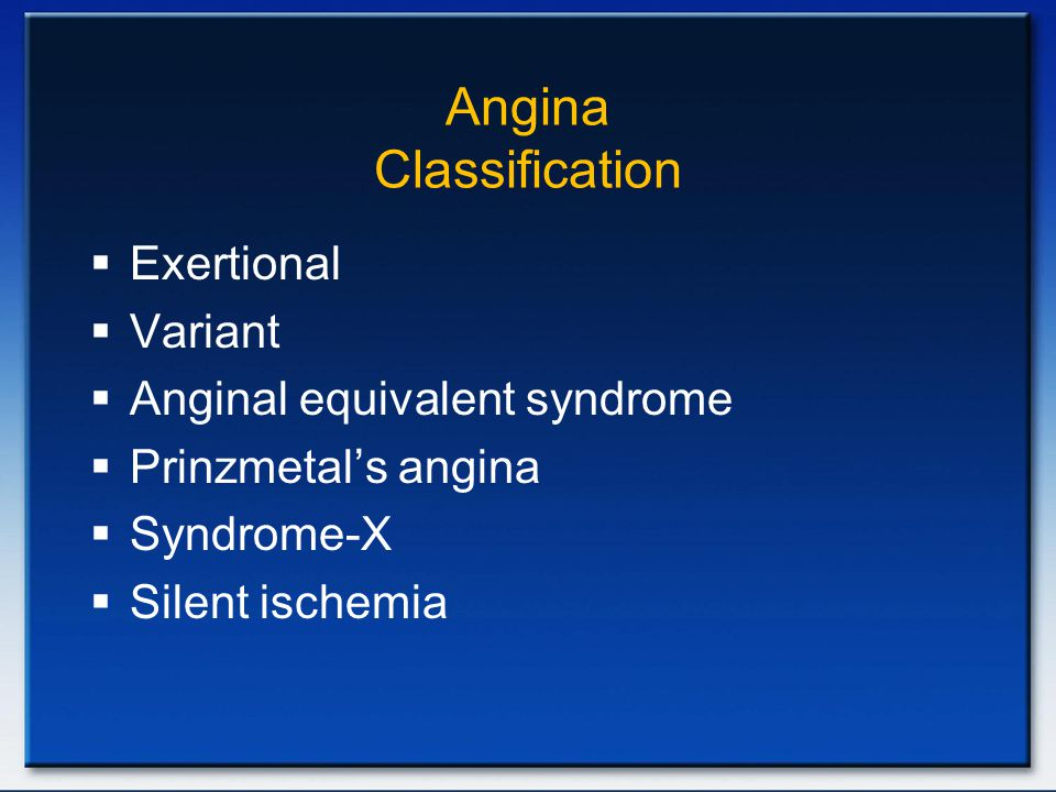 Angina Classification