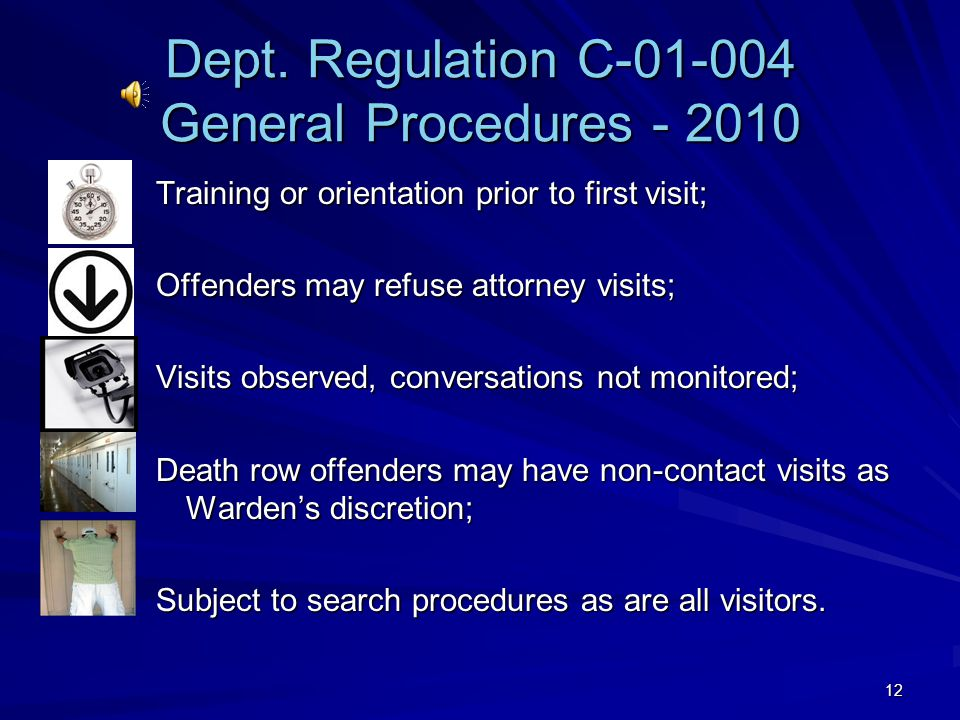 Dept. Regulation C-01-004 General Procedures - 2010