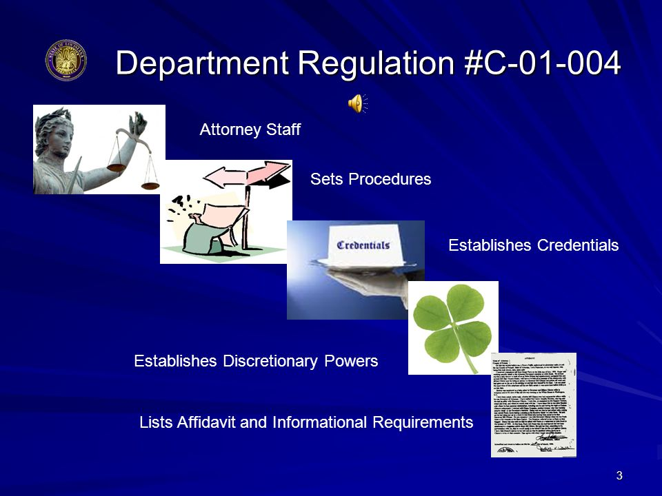Department Regulation #C-01-004