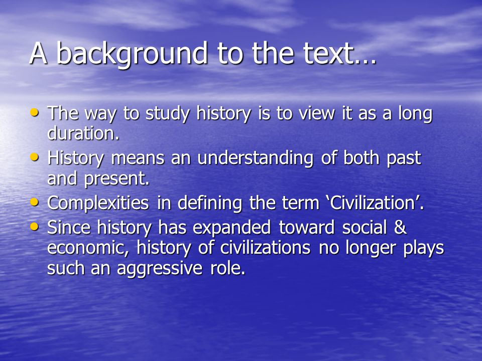 A background to the text…