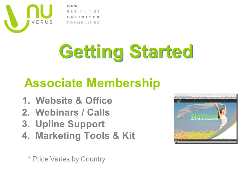 Getting Started Associate Membership