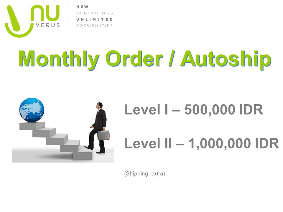 Monthly Order / Autoship