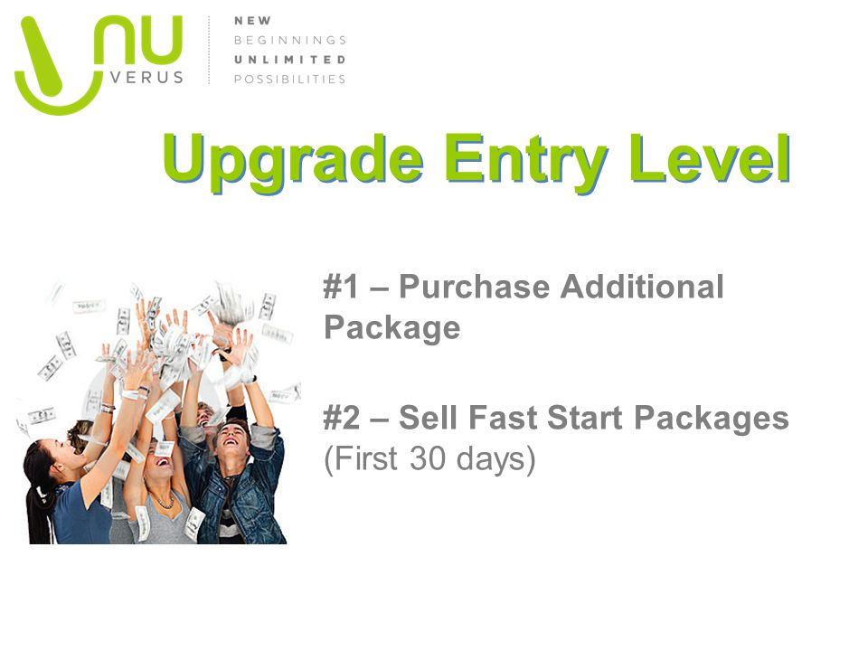 Upgrade Entry Level #1 – Purchase Additional Package