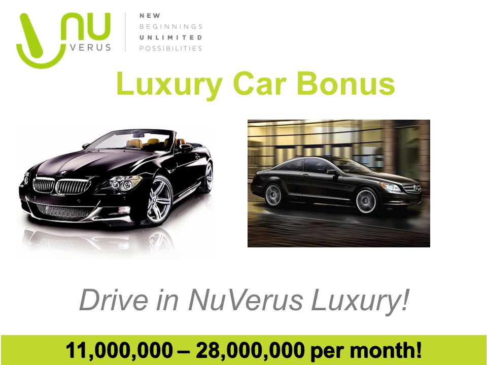 Drive in NuVerus Luxury!