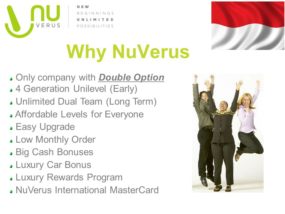 Why NuVerus Only company with Double Option