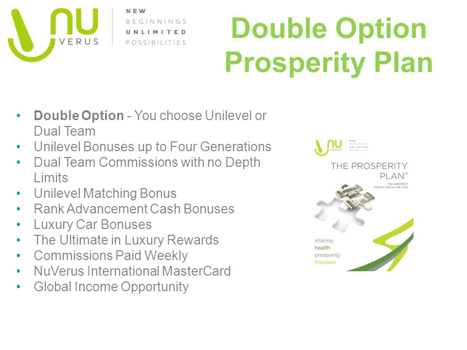 Double Option Prosperity Plan