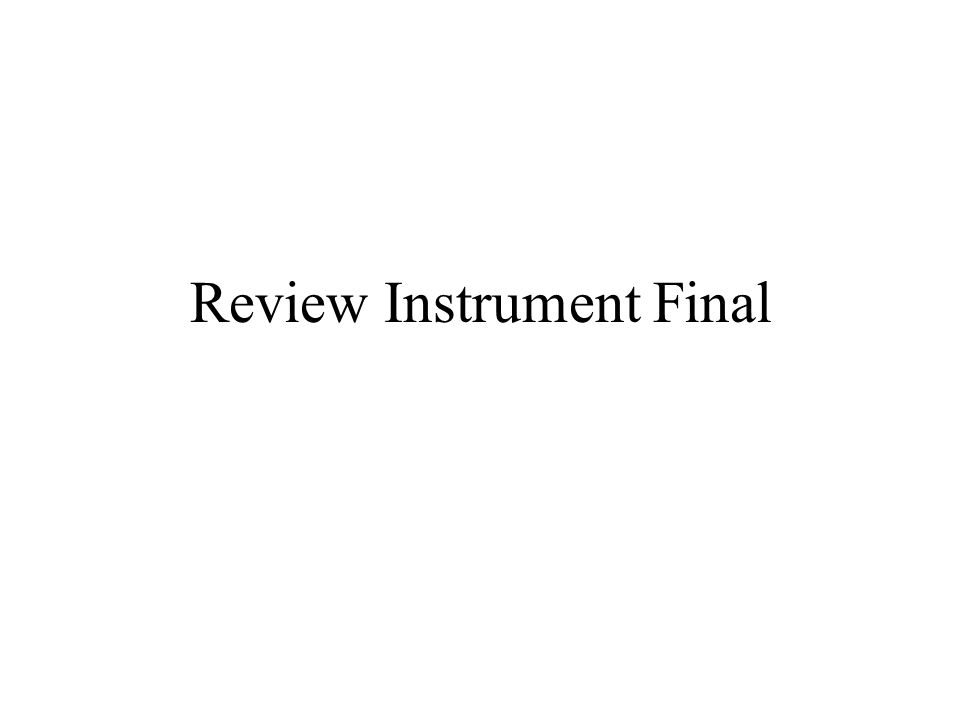 Review Instrument Final