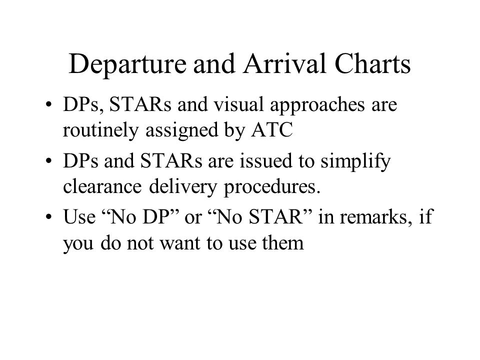 Departure and Arrival Charts