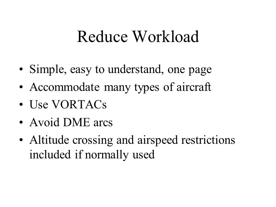 Reduce Workload Simple, easy to understand, one page