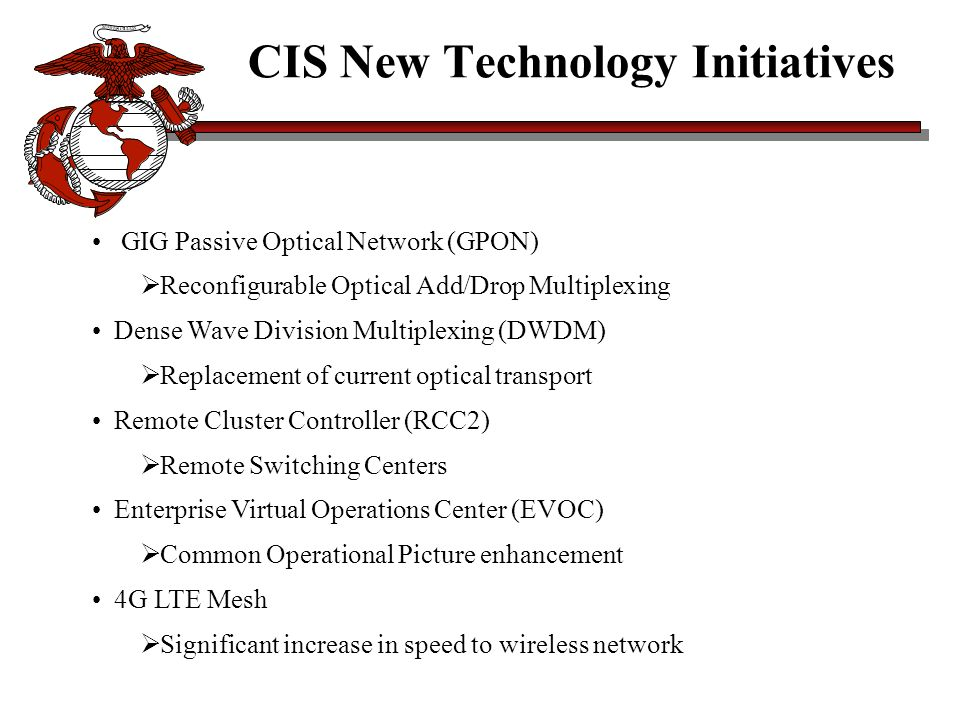CIS New Technology Initiatives