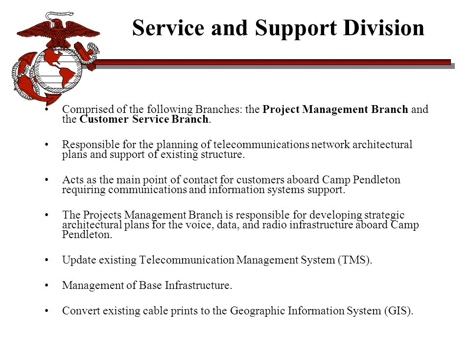 Service and Support Division
