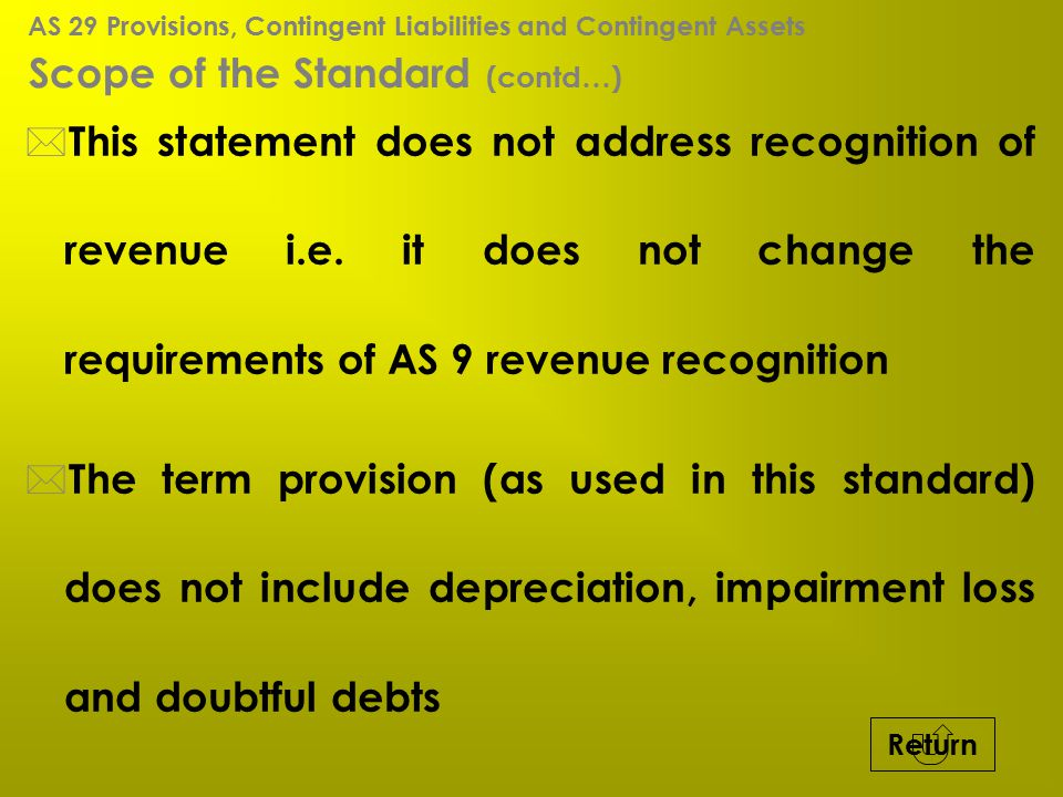 Scope of the Standard (contd…)