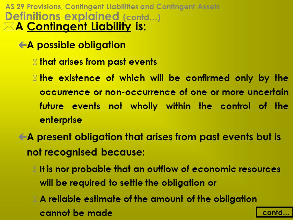 Definitions explained (contd…)